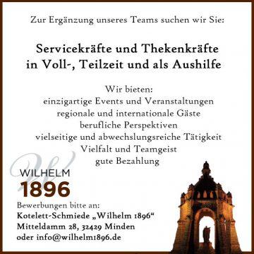 Stellenanzeige Wilhelm 90 X 90